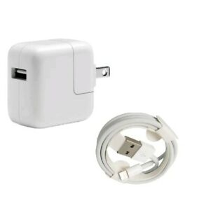 GENUINE Lightning Cable 1M & 12W USB Power Adapter Wall Charger for iPad A1401