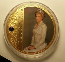 PRINCESS DIANA COMMEMORATIVE COIN  Gold-Layered with Swarovski® crystal