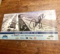 2016  Daytona 500 Ticket Signed Autograph By Joe Gibbs & Denny Hamlin