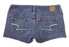 American Eagle Women's Shorts Stretch Studded Cut Off Daisy Duke Denim AE Size 0