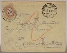 POSTA MILITARE 22 BUSTA CON SEGNATASSE DA 20 CENTESIMI  6.4.1918 #XP352E