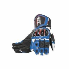 Guanti Blu con protezione palmo per motociclista palmo