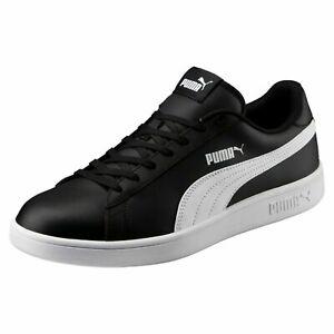 PUMA Men's Smash v2 Leather Sneaker Black