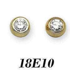 Orecchini con diamanti oro gialli Purezza pietra I1