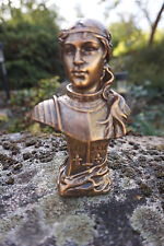 RE0301  FIGURINE STATUETTE REPRODUCTION BUSTE JEANNE  D  ARC   PUCELLE ORLEANS
