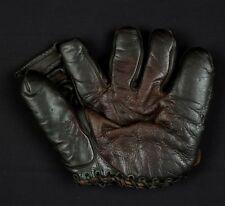 Joe DiMaggio Buckle Back Professional Baseball Glove Signed Twice 1940's