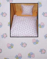 Bettwäsche 80x80 Baby Geburt Weiß Baumwolle Kinderwagen