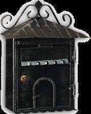 "Cassetta Postale Alubox serie ""Rustica"" in ferro battuto da esterni"