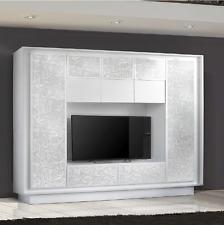 Mobile parete soggiorno porta TV Sky moderno salotto cucina serigrafia a fiori