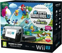 Nintendo Wii U New Super Mario Bros U Console Black 32GB Boxed