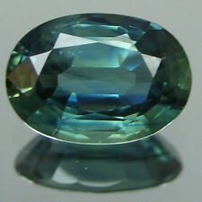 0.84ct Natural AFRICA BLUE GREEN Sapphire OVAL 1 Piece Loose Stone