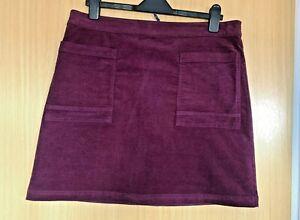 White Stuff Ladies Skirt 14 Casual Cord Corduroy Winter Pockets Everyday Purple