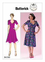 B6380 Butterick sewing pattern, Gertie Forties 40s tea dress, sizes 6- 22, retro