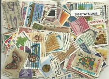 Lot de 300 timbres des USA
