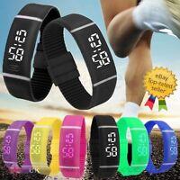 Unisex Men Womens Watch Date Rubber LED Bracelet Digital Sports Wrist Watch New
