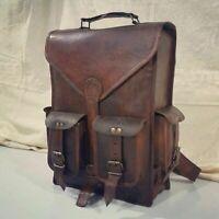 Men's Leather New Backpack Satchel Shoulder Travel Laptop School Rucksack Bag