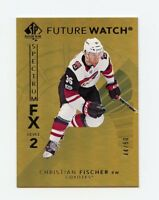 17/18 SP AUTHENTIC SPECTRUM FX GOLD #S-89 CHRISTIAN FISCHER 44/50 COYOTES *57560