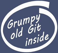 Grumpy Old Git Interior Calcomanía Vinilo Laptop coche furgoneta ventana Stickers