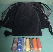 Chakra Healing Bag Set- 7 Chakra , Reiki Chakra Stones, Terminated Pencil Set,