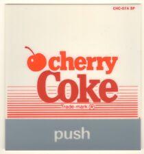 "Cherry Coke Vending Machine Insert, Lines Logo, Push Btn style, 3 1/2"" x 3 3/4"""