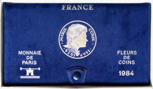 F5000.41 - COFFRET FLEURS DE COINS - FRANCS - 1984 - 1 centime à 100 francs RARE