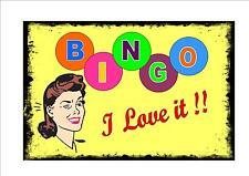 Bingo Vintage Style signal métallique cuisine vintage CHAMP DE FOIRE SIGNE