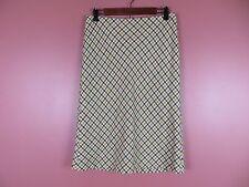 SK08106- TALBOTS Woman 50% Wool Fleece A-Line Skirt Multi-Color Plaids Sz 4