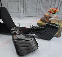 Super High Heels Womens Wedge Heels Platform Ankle Gothic Boots Cosplay Shoes