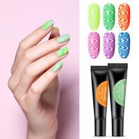 BORN PRETTY 8ml Fluorescent Stamping Gel Nail Polish Glitter Colors Soak Off Gel