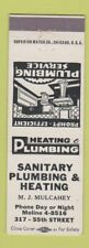 Matchbook Cover - Sanitary Plumbing and Heating