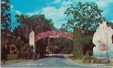 Vintage Postcard - Entrance to Fountain of Youth St. Augustine, FL - Used