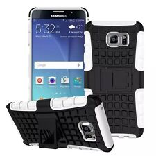 White Strong Tradesman Dual Layer Tough Case Cover for Samsung Galaxy Note 5