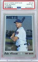 2019 TOPPS HERITAGE CHROME PETE ALONSO ROOKIE CARD # 14/999 PSA 10 GM Rare Card