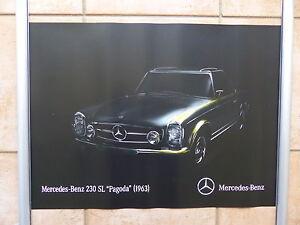 Mercedes-Benz 230 SL Pagoda (1963) - Poster 42 x 59 cm Plakat