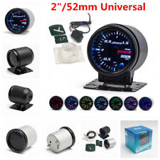 "2"" 52mm 7 Color LED Car Auto Bar Turbo Boost Gauge Meter With Sensor and Holder"