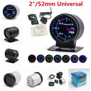 "2"" 52mm 7 Color LED Car Auto Bar Turbo Boost Gauge Meter With Sensor and Holder"