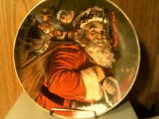 "Nib-Vtg 1987 Avon Plate ""The Magic That Santa Brings""-22 Kt Gold Trim -Free Ship"