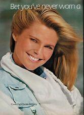 1984 CHRISTIE BRINKLEY for COVER GIRL  : Make up  Magazine  PRINT  AD (2-pg)