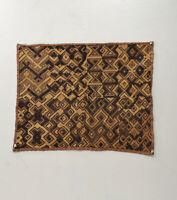 Kuba Cloth African Natural Woven Raffia Zaire Fabric Kuba Cloth