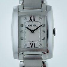 Ebel Brasilia Ladies, Stainless Steel,Silver Dia Dial, Quartz, EB 9976M22, New