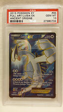 2015 Pokemon XY Ancient Origins 94 Full Art Lugia EX PSA 10 Gem Mint Pop 10!