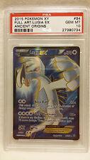 2015 Pokemon XY Ancient Origins 94 Full Art Lugia EX PSA 10 Gem Mint Pop 10!