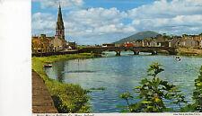 postcard Ireland   River Moy at Ballina Co Mayo  posted  Hinde