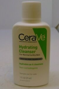 CeraVe Hydrating Cleanser for dry to normal skin 1 fl oz (29 ml) Travel Size