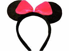 6 Pack Black Mouse Ears Bow Aliceband Fancy Dress Hen Night Angelina Ballerina