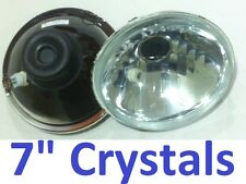 "1pair 7"" Crystal Headlights Semi Sealed Beam Mg MGA MGB Midget GT All Rounders"