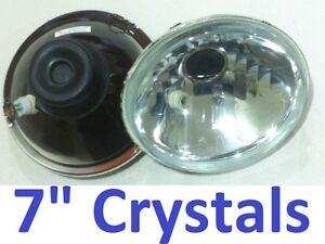 "1pr 7"" Crystal Headlights Semi Sealed Beam H4 Hi-Lo Datsun 1200 1300 2402 2602"