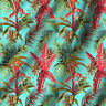 """Leaves Printed Pure Cotton Fabroc Clothes Sewing Dress Making By Yard 44"""" Wide"""