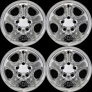 "4 fits Dodge Ram 1500 Truck 2002-2012 Chrome 17"" Wheel Skins Hub Caps Rim Covers"