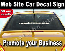 Web Site Address Car Decal - www.YourWebSiteAddress.com Sign - Vinyl Letters